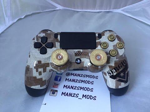 (Man2sMods) Mod mando Ps4 camuflaje desert,nombre y accesorios bala
