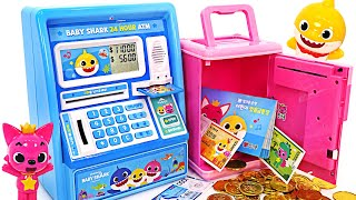 Pinkfong, play bank with Baby Shark! Baby Shark Singing ATM!   PinkyPopTOY