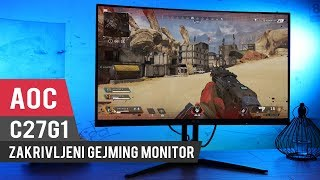 AOC C27G1 VA PANEL CURVED GAMING MONITOR UNBOXING AND