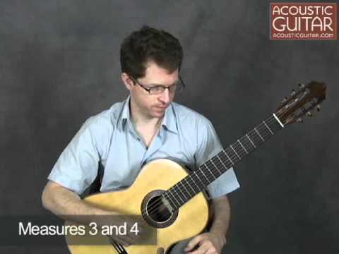 Acoustic Guitar Lesson with Patrick Francis - J.S. Bach Prelude for Lute BWV 999
