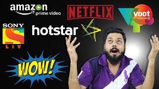 Netflix Vs Hotstar Vs Prime Video Vs Voot Vs Sony LIV - Indian Streaming Services Compared!