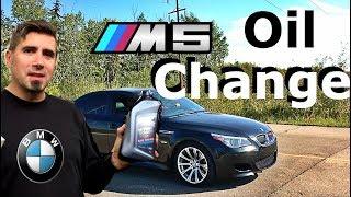 BMW E60 M5 Oil Change
