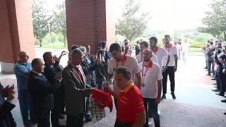 LLegada de la Selección Nacional de Baloncesto al Palacio de la Zarzuela