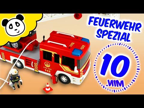 ⭕ PLAYMOBIL FEUERWEHR - Die coolsten Feuerwehr Autos - Spielzeug auspacken & spielen - Pandido TV