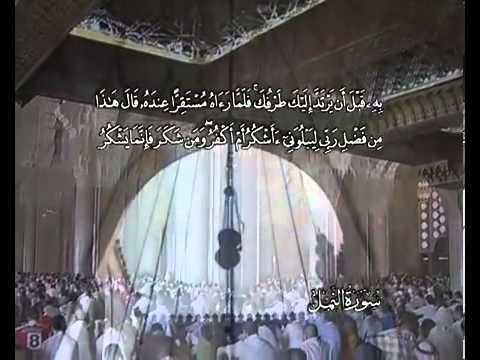 Sourate Les fourmis <br>(An Naml) - Cheik / Ali El hudhaify -