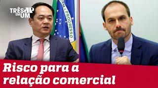China repudia acusações de Eduardo Bolsonaro