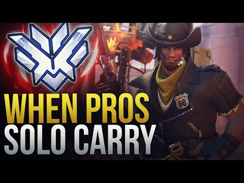 WHEN PROS SOLO CARRY #12 - Overwatch Montage