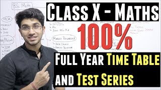 How to study for Class 10 Maths   Full Year Time Table and Test Series