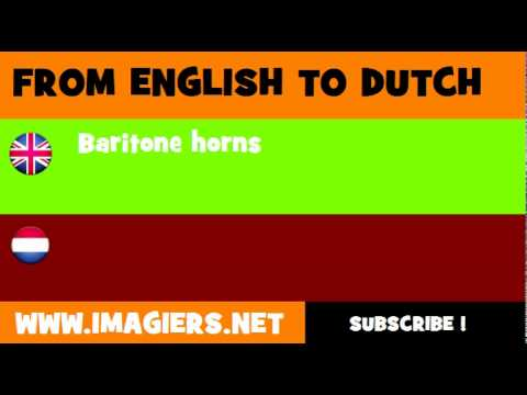 NEDERLANDS = ENGELS = Baritonhoorns