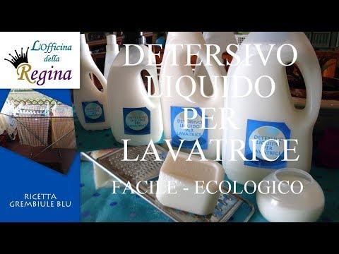 Detersivo liquido per lavatrice, facile, ecologico