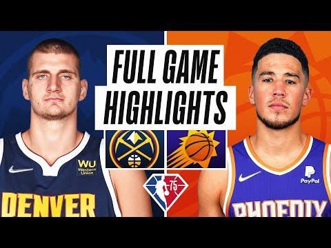 Phoenix Suns vs Denver Nuggets</a> 2021-10-21