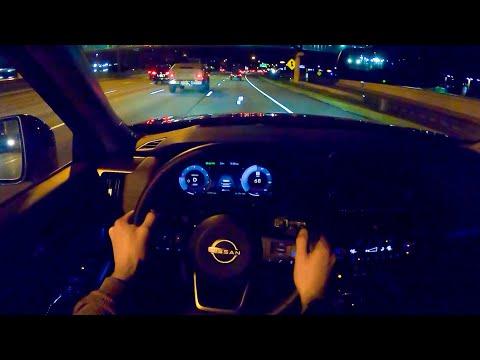 2022 Nissan Pathfinder Platinum 4WD - POV Night Drive (Binaural Audio)