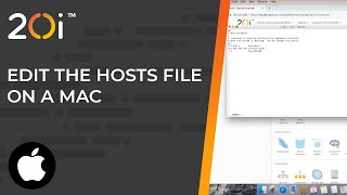 How to edit the hosts file on a Mac
