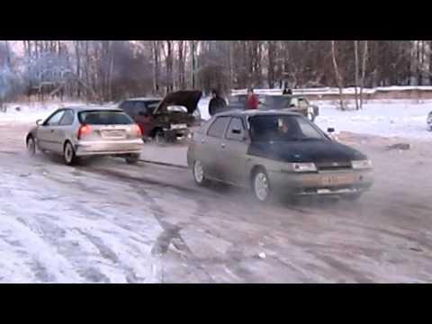 Перетягивание каната ВАЗ и Хонда