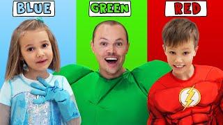 Day routine Hulk Family Max and Katy