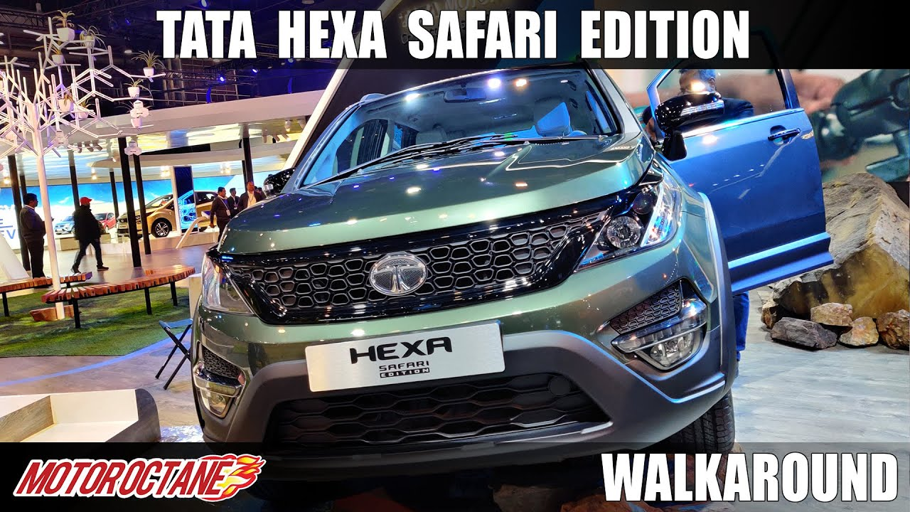 Motoroctane Youtube Video - Tata Hexa Safari Edition | @Auto Expo 2020 | Hindi | Motoroctane