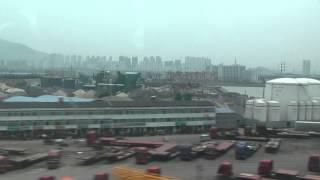 preview picture of video '中国版新幹線 CRH-2 はやてベース 車窓 無錫站出発時'