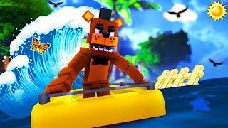 Minecraft FNAF Island - TSUNAMI DESTROYS FREDDY FAZBEAR