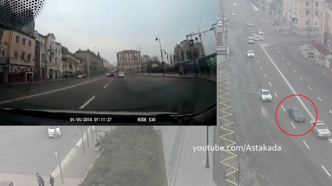 Погоня полиции за пьяным водителем во Владивостоке