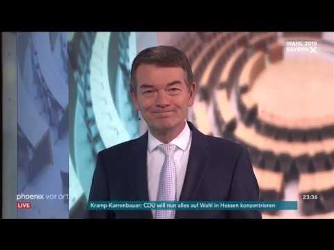 Landtagswahl in Bayern: Aktuelle Hochrechnungen mit Jörg Schönenborn am 14.10.2018