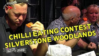 We host a Chilli Eating Contest at the F1 Grand Prix 2017 Silverstone Woodlands