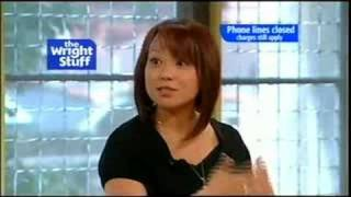 The Wright Stuff - Naoko Mori and the papers (03.07.08)