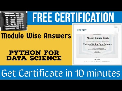 IBM Exam Answers   python for data science   free certificate course