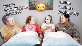 Flour challenge w/ Erika's PARENTS!! | TheWuvvyFam