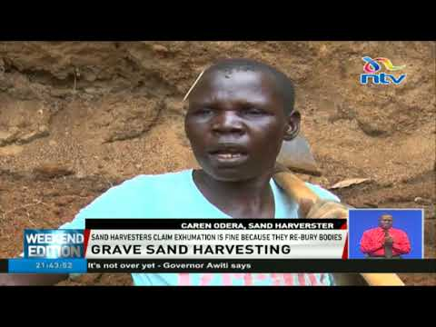 Kobala village residents dig up graves to harvest sand