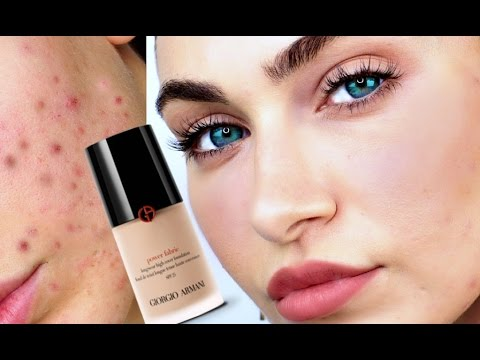 GIORGIO ARMANI Power Fabric Foundation REVIEW For ACNE Skin | Ruby Golani