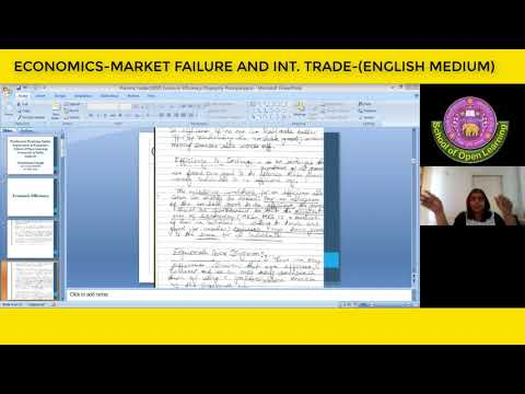 ECONOMICS-MARKET FAILURE AND INT. TRADE-(ENGLISH MEDIUM) By - KUMARI PRATIMA YADAV