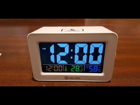 Banggood Digoo DG-C1R Alarm Clock with Temperature Humidity Display