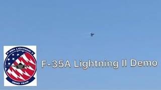 F 35A Lightning II Demo At The Milwaukee Air And Water Show