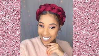 How To| Halo Braid On Natural Hair