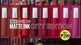 New Maybelline Superstay Matte Ink Liquid Lipstick City Edition