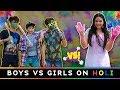 BOYS vs GIRLS ON HOLI || Sibbu Giri
