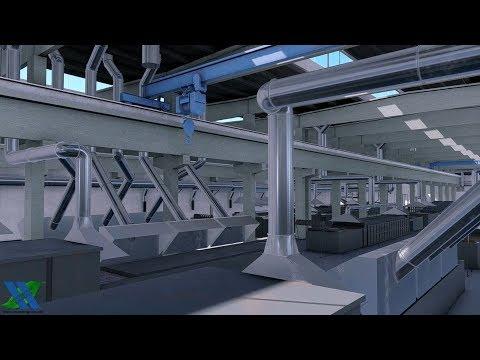 Промышленная вентиляция, термический цех _ Industrial ventilation, thermal shop.