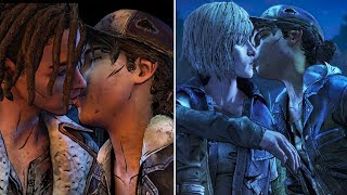 Kiss Louis vs Kiss Violet - All Choices - The Walking Dead The Final Season Episode 2