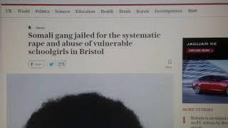 Refugee Somali gang  Paedophiles   jailed Bristol.