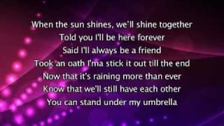 Rihanna   Umbrella, Lyrics In Video