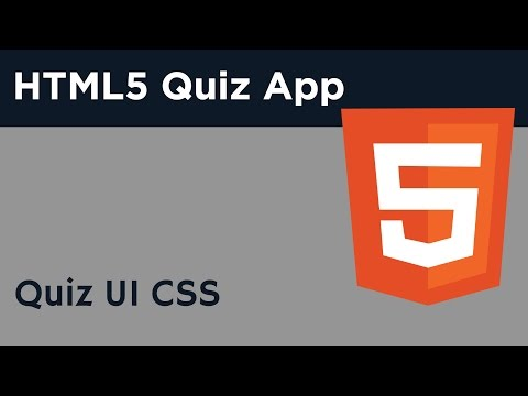 HTML5 Programming Tutorial | Learn HTML5 Quiz Application - Quiz UI CSS