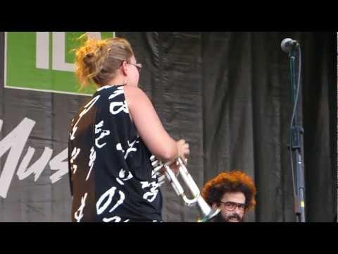 Rachel Therrien Quintet, Nostalgia en el Frio, Place des Festivals, Montréal, 2 juillet 2012