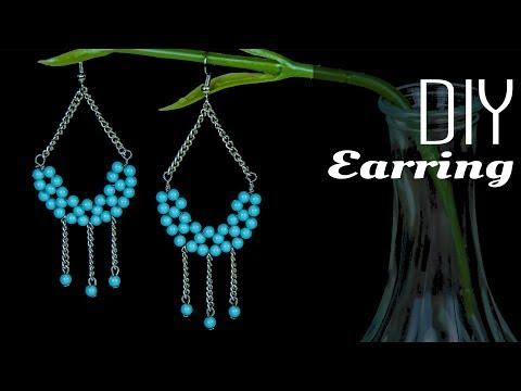 How to make earrings with beads | DIY easy earrings | jewelry tutorials 2017 | Beads art