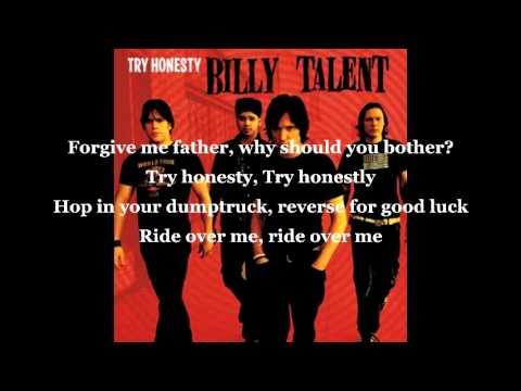 Billy Talent - Try Honesty lyrics