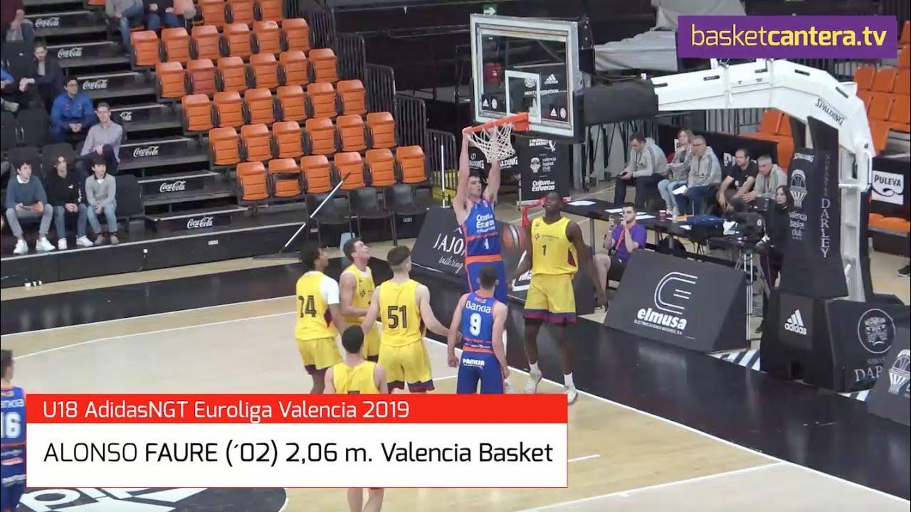 ALONSO FAURE (´02) 2,06 m Valencia Basket. Torneo AdidasNGT Euroliga (BasketCantera.TV)