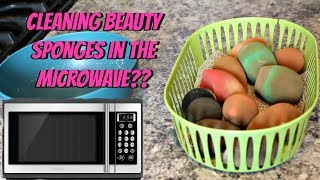 Beauty Blender HACK | Clean Your Beauty Sponges In The Microwave???