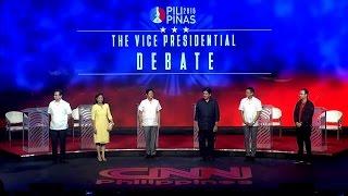 #PiliPinasDebates2016: The Vice Presidential debate
