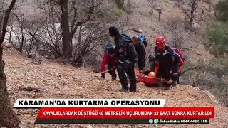 Mahsur kaldığı kayalıklardan 22 saat sonra kurtarıldı