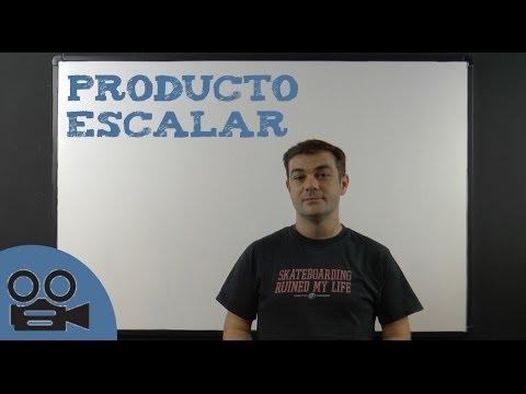 Producto escalar - Vectores