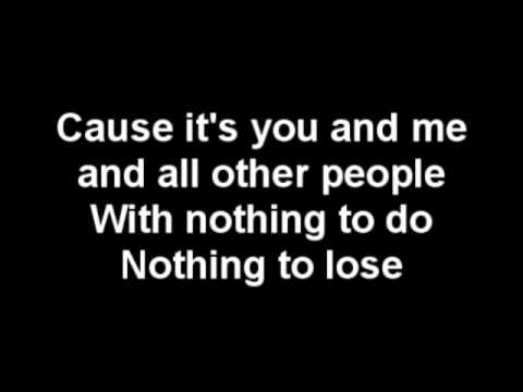 You and Me chords & lyrics - Lifehouse